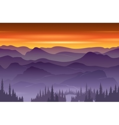 Mountains seamless background vector image