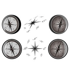 Set of compass vector image