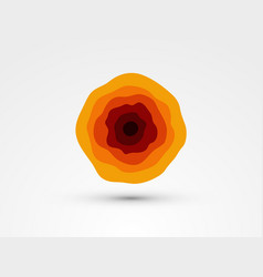 abstract red orange waves circle vector image