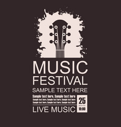 banner for music festival with a guitar fretboard vector image
