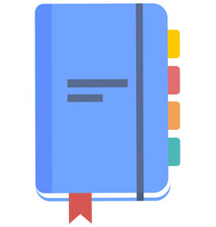 Blue blank empty notepad notebook closed vector