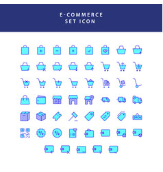 Business e-commerce shopping and finance filled vector