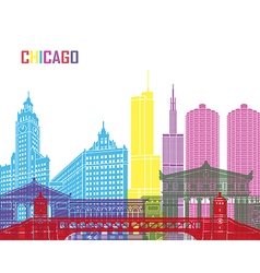 Chicago skyline pop vector