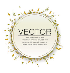circle frame for text floral design leaves vector image