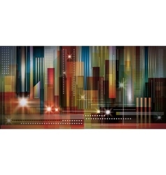 Cityscape night background vector image