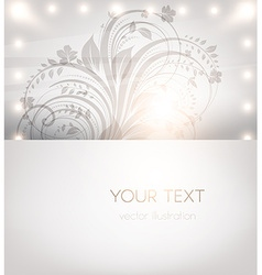 Classical white floral design vector
