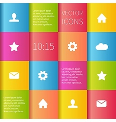 Colourful boxes ui design vector