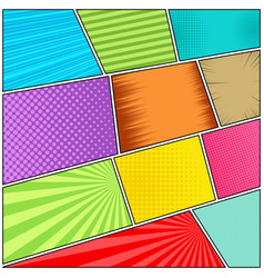 Comic book page bright dynamic concept vector