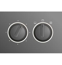 Cooker controls vector