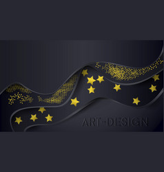dark with gold style vector image