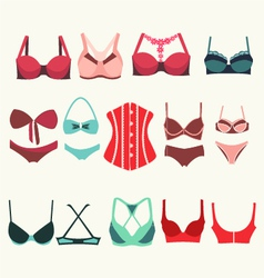 Different types of bras vector image