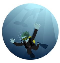 diving into abyss vector image
