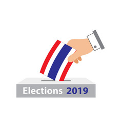 Elections thailand 2019 vector