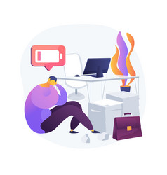 emotional burnout abstract concept vector image