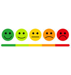 emotions with smiles vector image