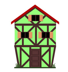 family european house vector image