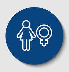 female sign white contour vector image