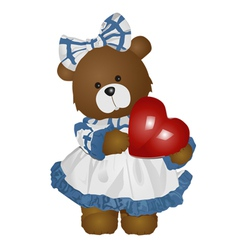 female teddy bear vector image