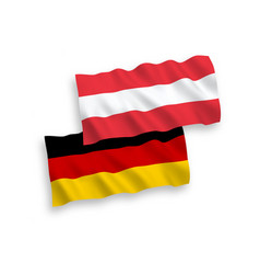 Flags of austria and germany on a white background vector