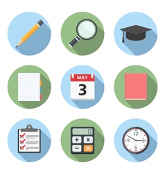 Flat Education Icons vector