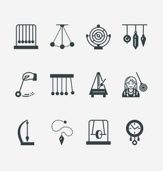 Flat line icon of pendulum types newton vector