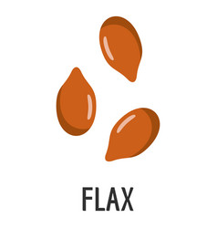 Flax icon flat style vector