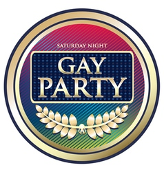 Gay party label vector