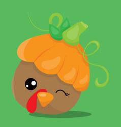 Gobble pumpkin 07 vector