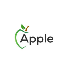green apple graphic design template vector image