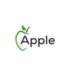 Green apple graphic design template vector