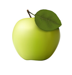 Green apple on a white background vector