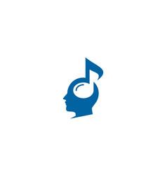 head music logo icon design vector image
