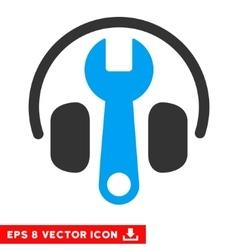 Headphones tuning wrench eps icon vector