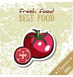 Healthy Food Tomato vector