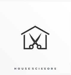 house scissors template vector image