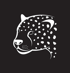 image an cheetah face on black background vector image