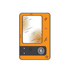 isolated retro mp3 player icon vector image