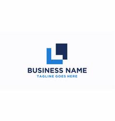 l square logo design inspiration vector image