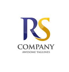 letter r and s rssrletter s letter r logo vector image