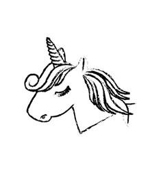 Magical unicorn icon vector