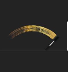 Make-up cosmetic golden mascara brush stroke on vector