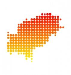 Map of Ibiza vector