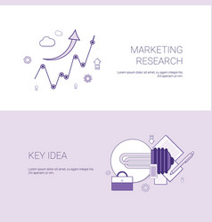 marketing research and key idea template web vector image