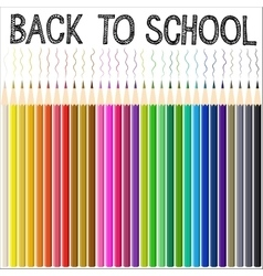 Modern school background with color pencil vector