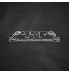 Monorail train icon vector