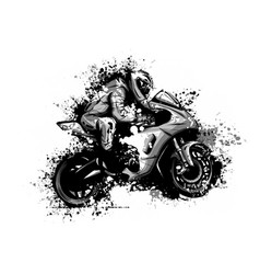 motorcyclist on a motorcycle vector image