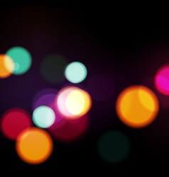 Night Lights Abstract Background vector