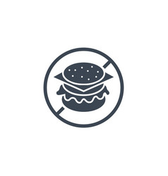 no fast food related glyph icon vector image