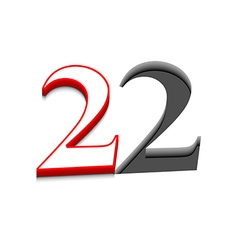 number two design vector image