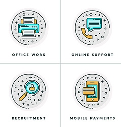 Office work online support recruitment online vector image